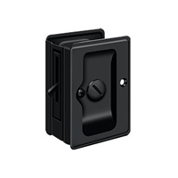 "Deltana SDLA325U19 - Hd Pocket Lock, Adjustable, 3 1/4""X 2 1/4"" Privacy - Paint Black Finish"