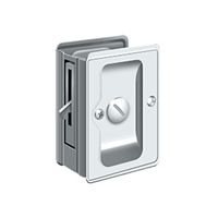 "Deltana SDLA325U26 - Hd Pocket Lock, Adjustable, 3 1/4""X 2 1/4"" Privacy - Polished Chrome Finish"