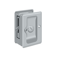"Deltana SDLA325U26D - Hd Pocket Lock, Adjustable, 3 1/4""X 2 1/4"" Privacy - Brushed Chrome Finish"