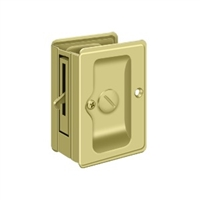 "Deltana SDLA325U3 - Hd Pocket Lock, Adjustable, 3 1/4""X 2 1/4"" Privacy - Polished Brass Finish"