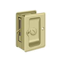 "Deltana SDLA325U3-UNL - Hd Pocket Lock, Adjustable, 3 1/4""X 2 1/4"" Privacy - Unlacquered Brass Finish"