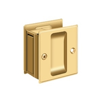 "Deltana SDP25CR003 - Pocket Lock, 2 1/2""X 2 3/4"" Passage - PVD Polished Brass Finish"