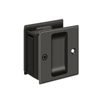 "Deltana SDP25U10B - Pocket Lock, 2 1/2""X 2 3/4"" Passage - Oil-rubbed Bronze Finish"