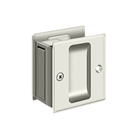 "Deltana SDP25U14 - Pocket Lock, 2 1/2""X 2 3/4"" Passage - Polished Nickel Finish"