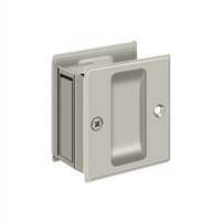 "Deltana SDP25U15 - Pocket Lock, 2 1/2""X 2 3/4"" Passage - Brushed Nickel Finish"