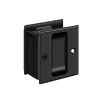 "Deltana SDP25U19 - Pocket Lock, 2 1/2""X 2 3/4"" Passage - Paint Black Finish"