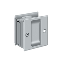 "Deltana SDP25U26D - Pocket Lock, 2 1/2""X 2 3/4"" Passage - Brushed Chrome Finish"