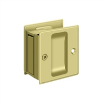 "Deltana SDP25U3 - Pocket Lock, 2 1/2""X 2 3/4"" Passage - Polished Brass Finish"