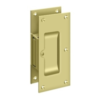 "Deltana SDP60U3 - Decorative Pocket Lock 6"", Passage - Polished Brass Finish"