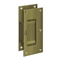"Deltana SDP60U5 - Decorative Pocket Lock 6"", Passage - Antique Brass Finish"
