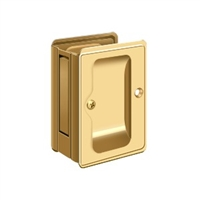 "Deltana SDPA325CR003 - Hd Pocket Lock, Adjustable, 3 1/4""X 2 1/4"" Passage - PVD Polished Brass Finish"