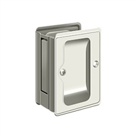 "Deltana SDPA325U14 - Hd Pocket Lock, Adjustable, 3 1/4""X 2 1/4"" Passage - Polished Nickel Finish"