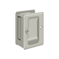 "Deltana SDPA325U15 - Hd Pocket Lock, Adjustable, 3 1/4""X 2 1/4"" Passage - Brushed Nickel Finish"