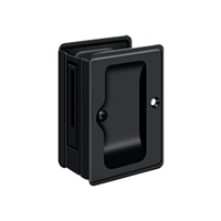 "Deltana SDPA325U19 - Hd Pocket Lock, Adjustable, 3 1/4""X 2 1/4"" Passage - Paint Black Finish"
