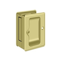 "Deltana SDPA325U3 - Hd Pocket Lock, Adjustable, 3 1/4""X 2 1/4"" Passage - Polished Brass Finish"