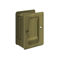 "Deltana SDPA325U5 - Hd Pocket Lock, Adjustable, 3 1/4""X 2 1/4"" Passage - Antique Brass Finish"
