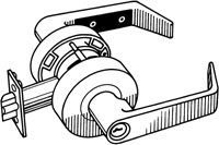 S. Parker Hardware Sl8160A26Dic Dull Chrome Accepts Interchangeable Core Grade 2 Lever Entry