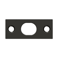 Deltana SP12EFB10B - Strike Plate For Extension Flush Bolt - Oil-rubbed Bronze Finish