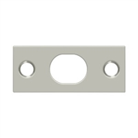 Deltana SP12EFB15 - Strike Plate For Extension Flush Bolt - Brushed Nickel Finish