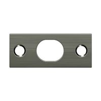 Deltana SP12EFB15A - Strike Plate For Extension Flush Bolt - Antique Nickel Finish