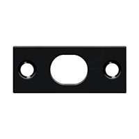 Deltana SP12EFB19 - Strike Plate For Extension Flush Bolt - Paint Black Finish