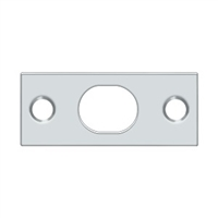 Deltana SP12EFB26 - Strike Plate For Extension Flush Bolt - Polished Chrome Nickel Finish