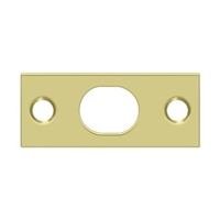 Deltana SP12EFB3 - Strike Plate For Extension Flush Bolt - Polished Brass Finish