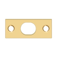 Deltana SP12EFBCR003 - Strike Plate For Extension Flush Bolt - PVD Polished Brass Finish