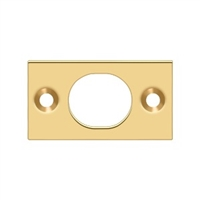 "Deltana SP6FBCR003 - Strike Plate For 6"" Flush Bolt - PVD Polished Brass Finish"