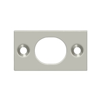 "Deltana SP6FBU15 - Strike Plate For 6"" Flush Bolt - Brushed Nickel Finish"