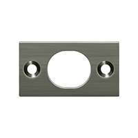"Deltana SP6FBU15A - Strike Plate For 6"" Flush Bolt - Antique Nickel Finish"