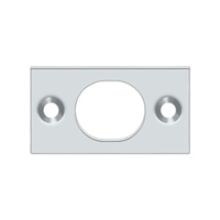 "Deltana SP6FBU26 - Strike Plate For 6"" Flush Bolt - Polished Chrome Finish"