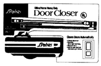 S. Parker Hardware 00053: Chocolate Clamshell Residential Door Closer Pack