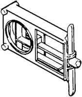 S. Parker Hardware Sph-224, Concealed Latch Housing For Metal Doors With #223 And #226 Knobs And #615 Concealed Slide Latch