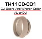 Global Door Controls Th1100-Cg1-Al, Th1100 Mortise Cylinder Accessories Cylinder Guard Aluminum