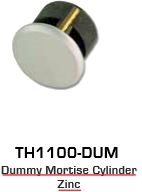 Global Door Controls Th1100-Dum-Al, Th1100 Keyed Mortise Dummy Cylinder Aluminum
