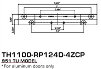 Global Door Controls Th1100-Rp124D-4Zcp, 951 Tu Model Reinforcement Plate Th1100 Intermediate Pivot