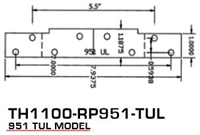 Global Door Controls Th1100-Rp951-Tul, 951 Tul Model Reinforcement Plate Th1100 Intermediate Pivot