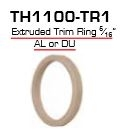 "Global Door Controls Th1100-Tr1-Al, Th1100 Mortise Cylinder Accessories Trim Ring Extruded 5/16"" Aluminum"
