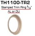 "Global Door Controls Th1100-Tr2-Al, Th1100 Mortise Cylinder Accessories Trim Ring Stamped 5/16"" Aluminum"