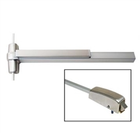 "Townsteel Ed1200-48-Lbr-Us32D, Surface Vertical Rod Exit Device, For 48"" Door, Less Bottom Rod, Satin Stainless Steel"