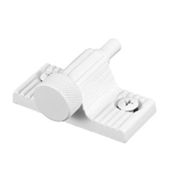 Prime Line U 9850 - Sliding Door Lock, Twist-In, White Finish