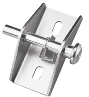 Prime Line U 9853 - Sliding Door Lock, Push/Pull, Aluminum Finish