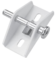 Prime Line U 9855 - Sliding Door Lock, Push/Pull, White Finish