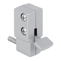 Prime Line U 9877 - Sliding Door Lock, Step-On, Aluminum Finish