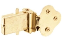 Prime Line U 9926 - Double Hung Wood Window Flip Latch, Brass Plated