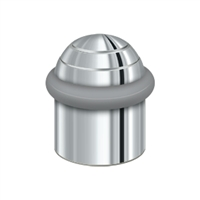 "Deltana UFBD4505U26 - Round Universal Floor Bumper Dome Cap 1-1/2"", Solid Brass - Polished Chrome Finish"