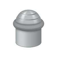 "Deltana UFBD4505U26D - Round Universal Floor Bumper Dome Cap 1-1/2"", Solid Brass - Brushed Chrome Finish"