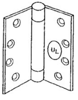 "S. Parker Hardware Ul1278Pc  4-1/2"" X 4-1/2"" Spring Hinge Top Adjustment In Prime Coat Finish"