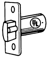 "S. Parker Hardware Ul91002,  Ul Listed Heavy Duty Latch In Stainless Steel 2 3/4"" Backset"